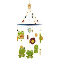 Деревянный мобиль с лягушками BIECO