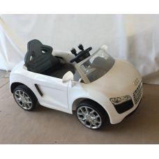 Электромашина Audi белая вращение на 360