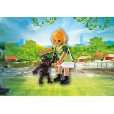 Фигурка Playmobil Playmo-Friends 9074 Смотритель зоопарка некомплект