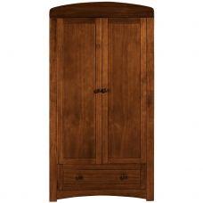 Платяной шкаф 2 двери + ящик темно-коричневый
