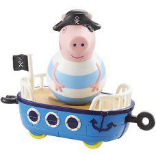 Фигурка Weebles Свинка Пеппа Джордж пират на корабле