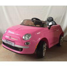 Электромашина Fiat 500 розовый