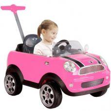 Каталка Mini Cooper розовая 10м+