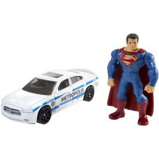 Фигурка с машинкой Hot Wheels Superman and Metropolis PD