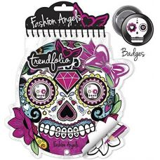 Блокнот для творчества Fashion Angels Sugarskull Trendfolio (11821) некомплект